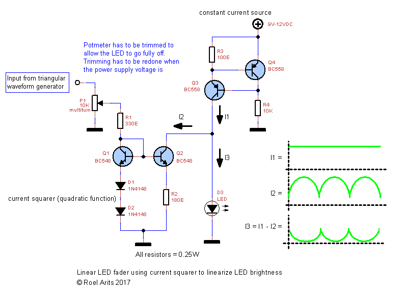 Picture of Schematic3 - Open Loop LED Fader Circuit Using Current Squarer