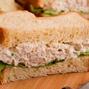Russian Chicken Salad Sandwich With Spicy Horseradish
