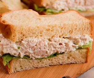 Russian Chicken Salad Sandwich With Spicy Horseradish