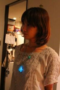 Glittery Raindrop Necklace