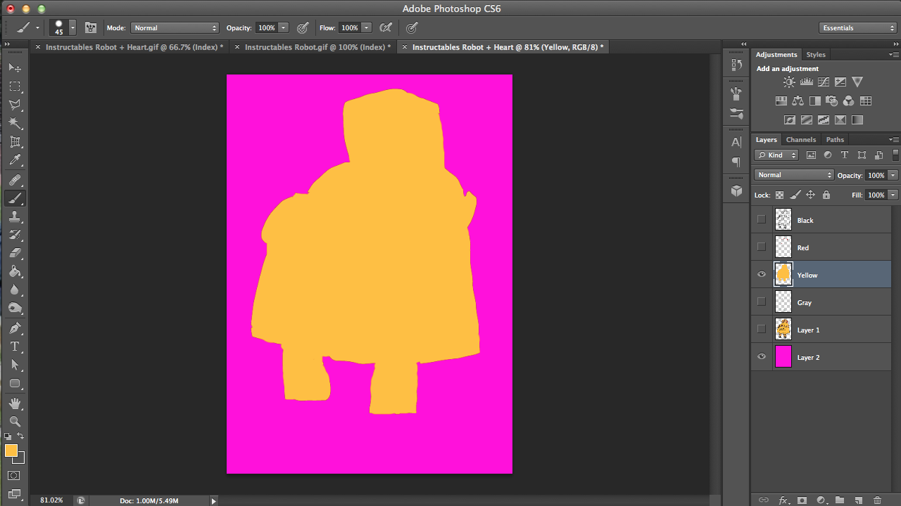 Picture of Using an Atrociously Colored Layer to Fix Your Colors