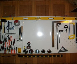"The ultimate tool organizer ""Metal magnetic pegboard"" for less than 10$"