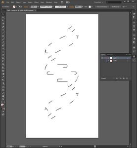Drawing the Double Helix in Adobe Illustrator (Step 5)