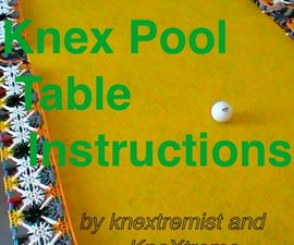 Knex Pool Table Instructions