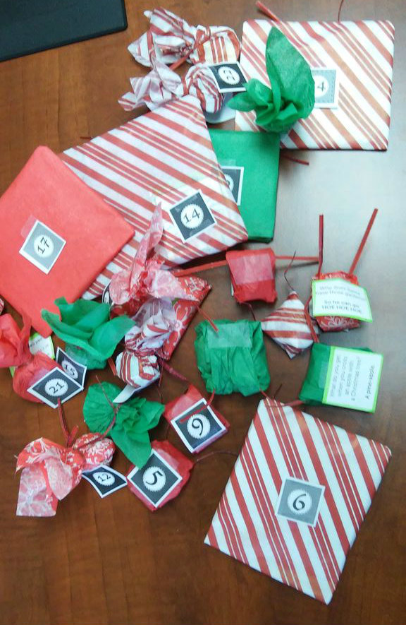 Picture of Wrapping and Labeling the Gifts
