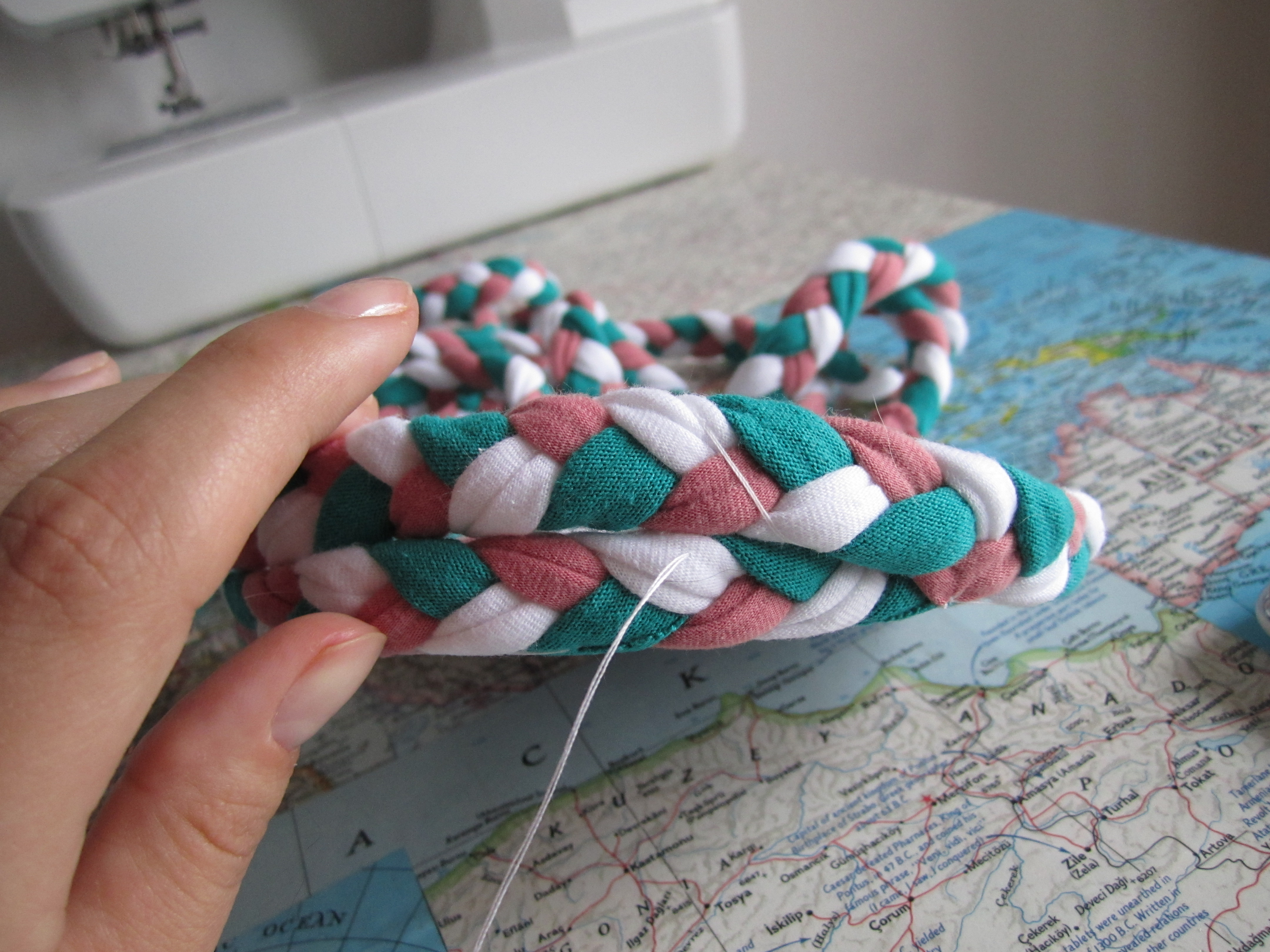 Picture of Sew the Sides of the Basket