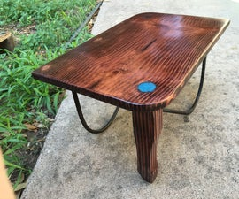 Pine and Rebar Footrest