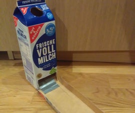 Foldable Dice Tower From Milk Cartons