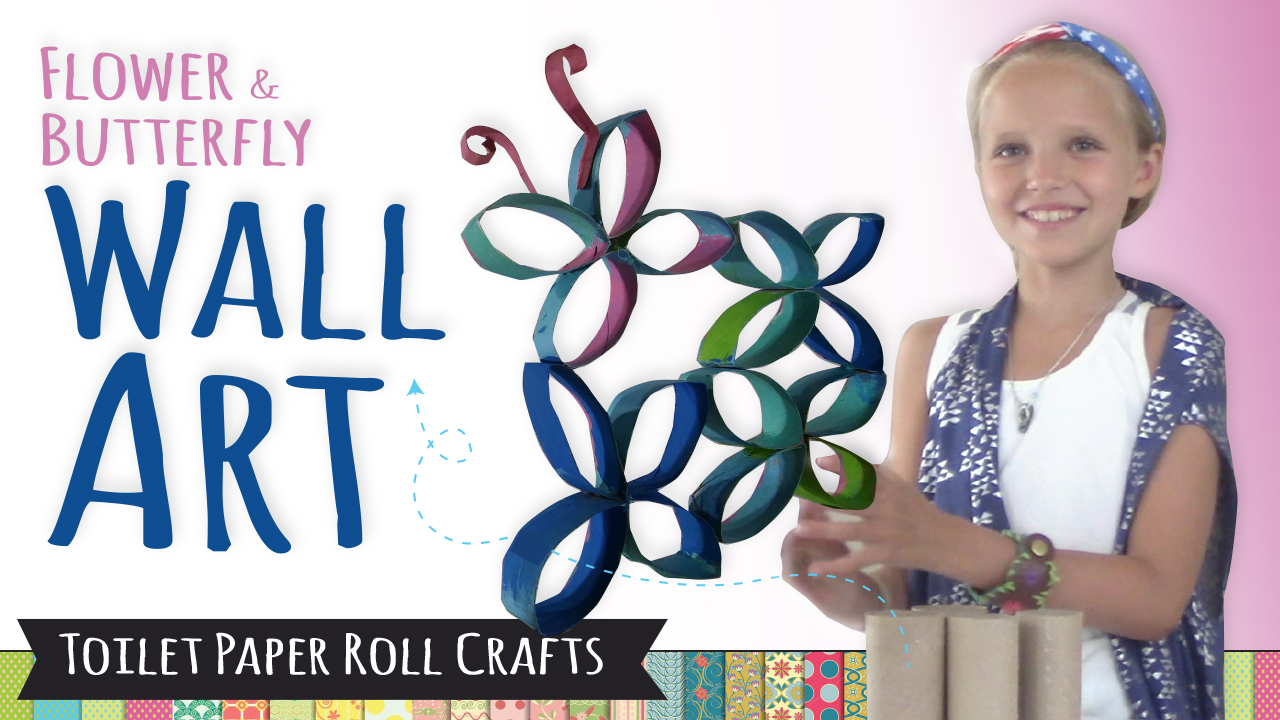 Picture of How to Make Wall Art Using Toilet Paper Rolls   DIY Room Decor