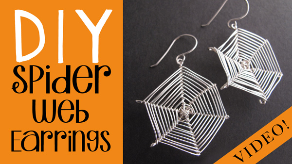 Picture of DIY Spider Web Earrings - Halloween Jewelry Project