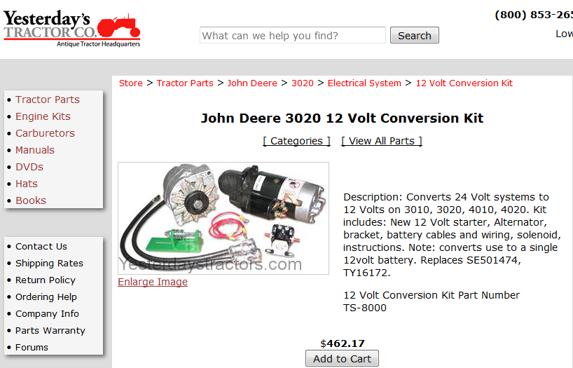 Picture of Purchase the Materials for the 12v Conversion.