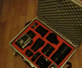 Fitted camera case from old tool case