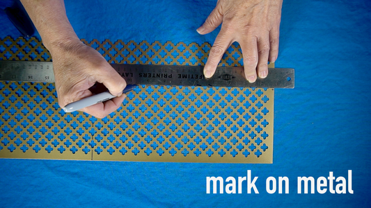 Mark and Cut Metal Cover