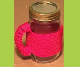 Paracord Wrapped Mason Jar Mug