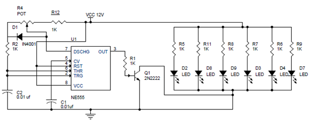 PWM Lamp Dimmer Using NE555 Timer