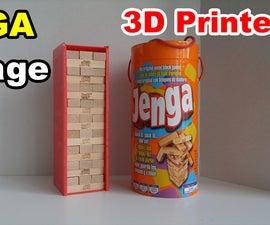 3D Printed Jenga Box and Block Stacker