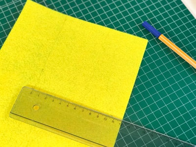Cut Out the Second Felt Layer by 1cm Smaller (12x12cm)