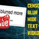 How to Blur / Hide Text - Windows Movie Maker