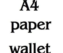 A4 paper wallet