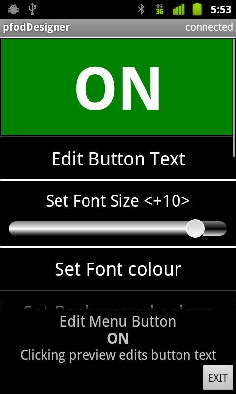 Picture of Editing a Button