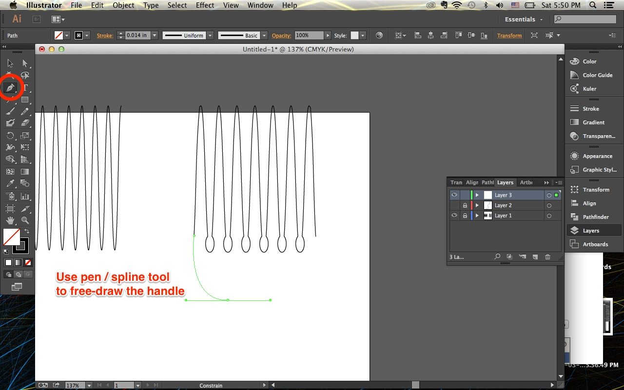 Picture of Design & Draw the Comb