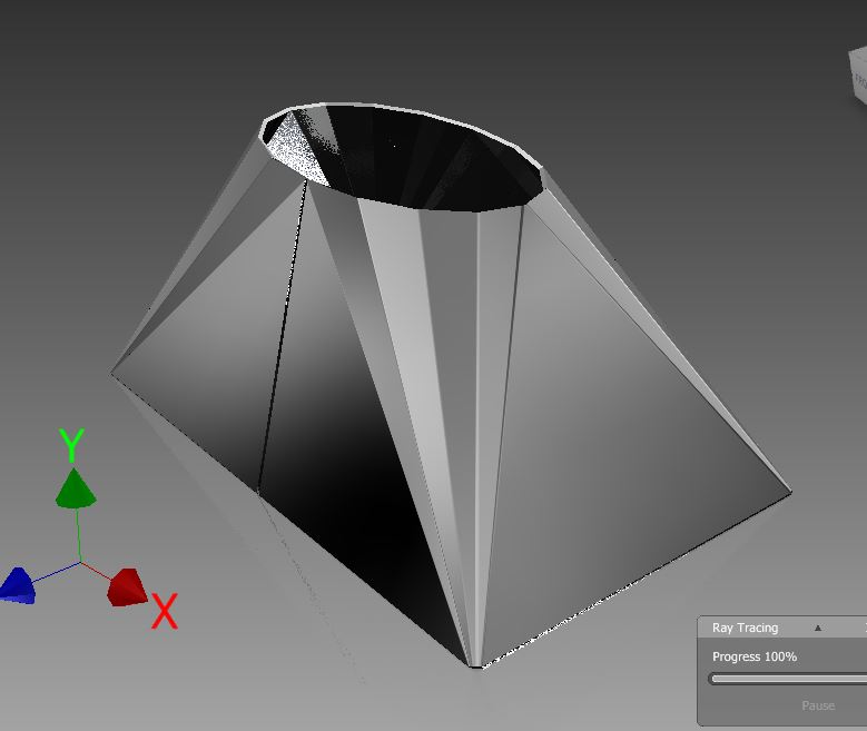 Picture of AutoDesk Inventor Sheet Metal EX3 Elliptical Transition