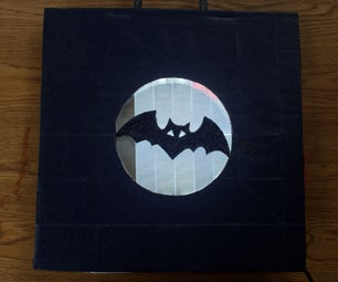 Moon With the Bat Silhouette