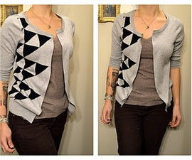 No-Sew Old Sweater Into a New Cardigan