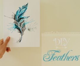 How to Paint Realistic Feather With Watercolors