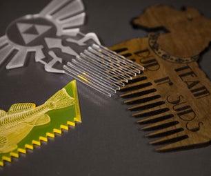 Laser Cut Combs