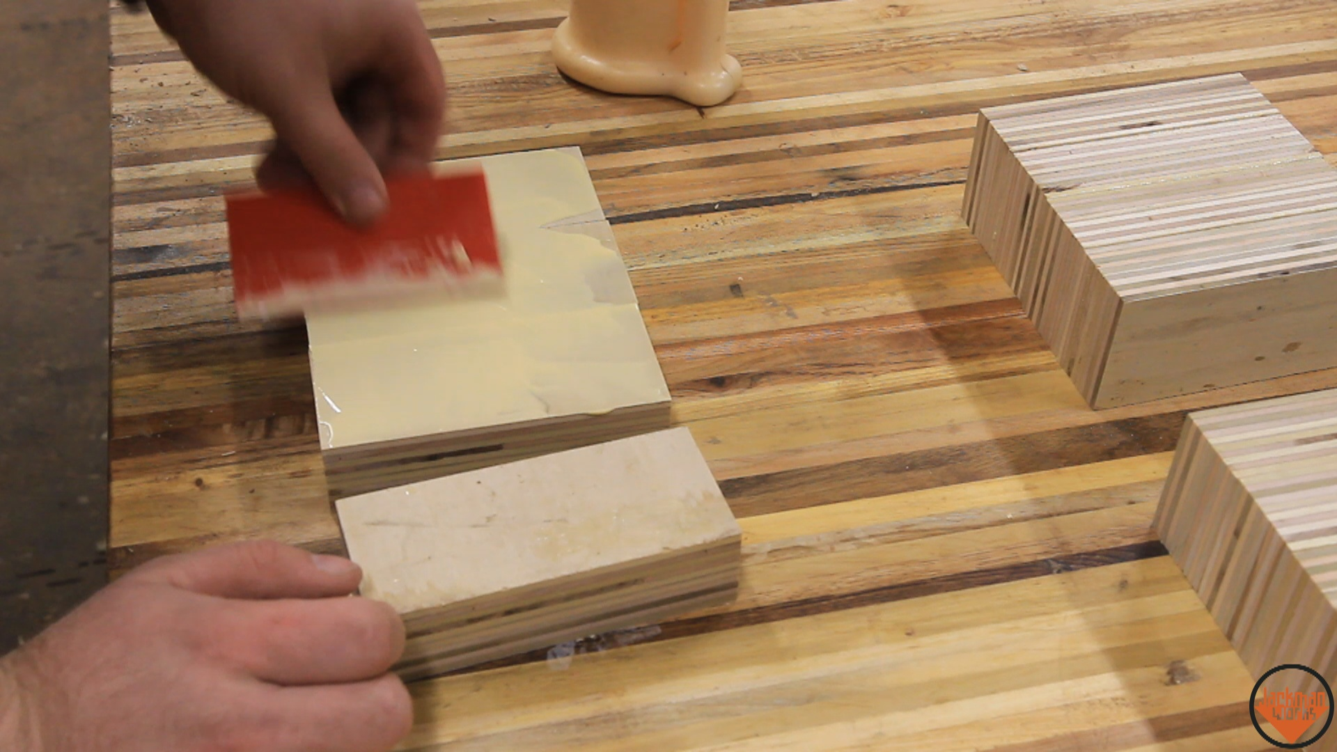 Picture of Cutting & Gluing Plywood Blocks
