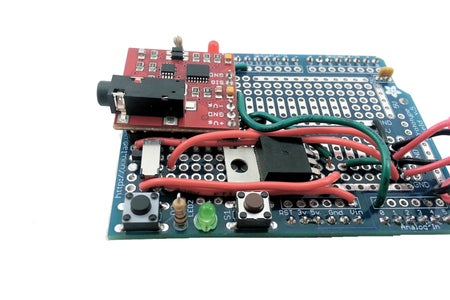 [Muscle Sensor Shield] Connect the Switch to the Input Pin of the 5V Regulator