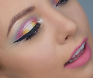 Rainbow Spotlight Eye Makeup - Ariana Grande Inspired