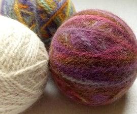DIY Felted Dryer Balls - Easy!