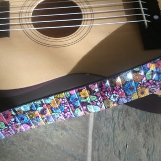 How to Make the Totally RAWKIN' Guitar Strap of Epic Awesomeness (Out of a Cheesy Old Poseur Belt From Goodwill)