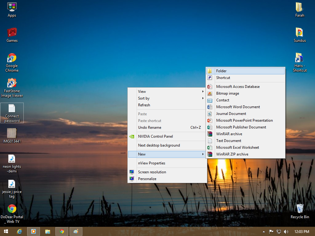 Picture of Make a New Folder No Your Desktop