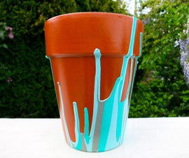 Drip Paint Flower Pot