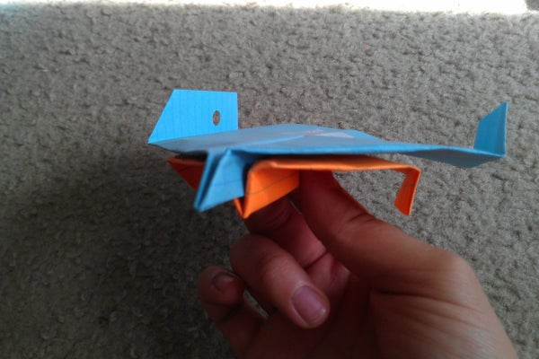 How to Make the Bluehawk Bomber Paper Airplane- Actually Drops Bombs!