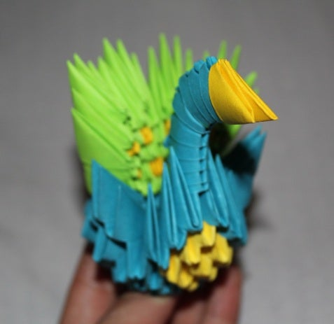 How to make 3d origami peacock |Activities for kids| Craft ... | 463x477