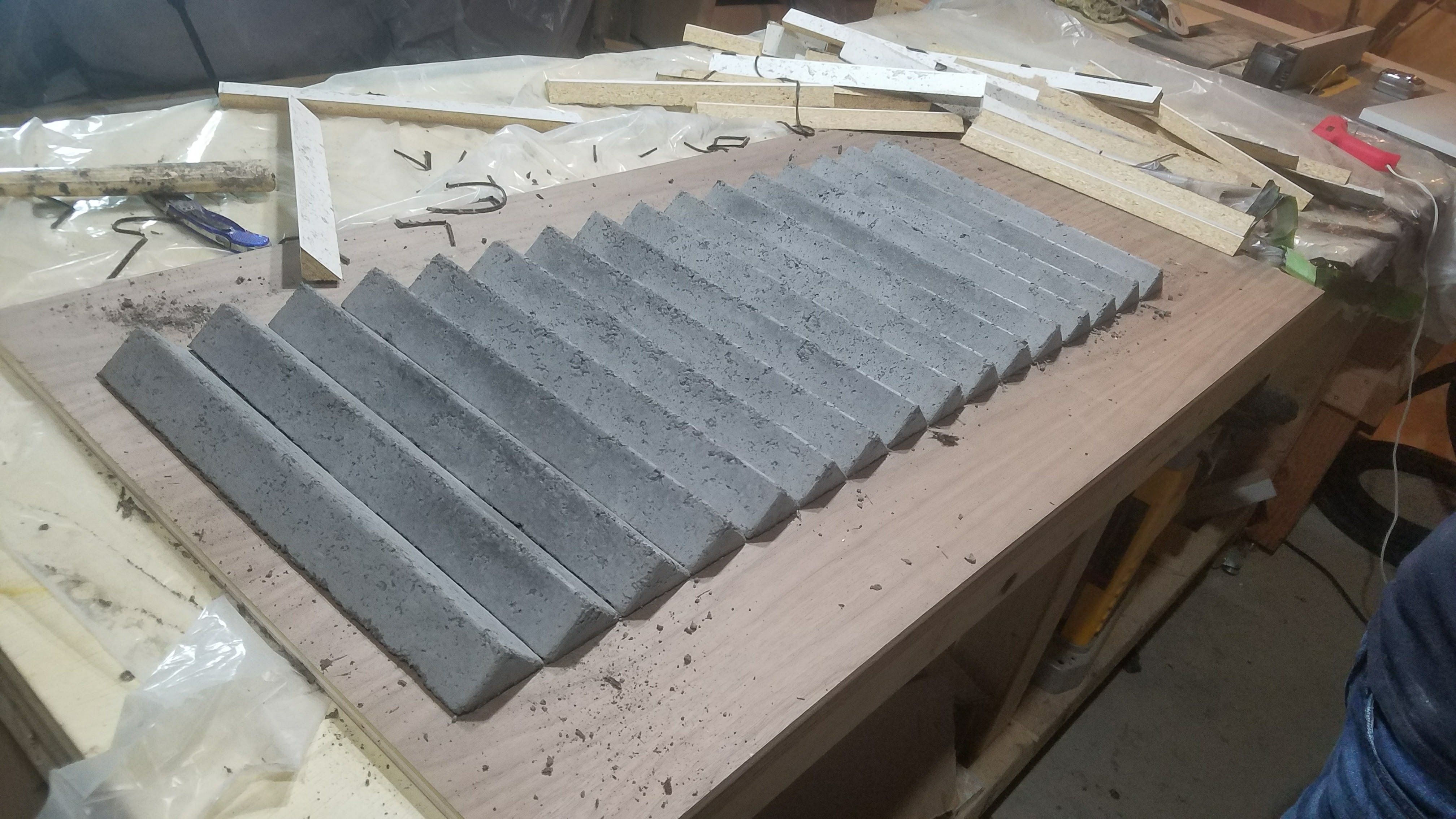 Picture of Demold the Concrete Triangles