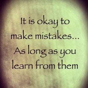 Avoid Ignoring Your Mistakes