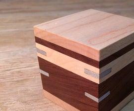 Walnut Box With Aluminum Splines