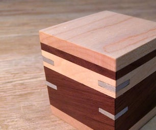 Walnut Box With Aluminum Splines