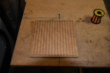 Form the Heating Wire With a Bed of Nails.