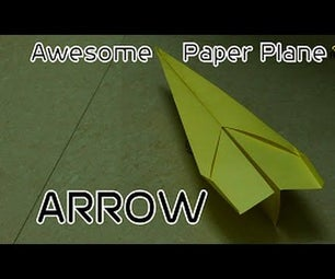 Awesome Origami Paper Plane: Arrow ( Paper Plane That Flies)