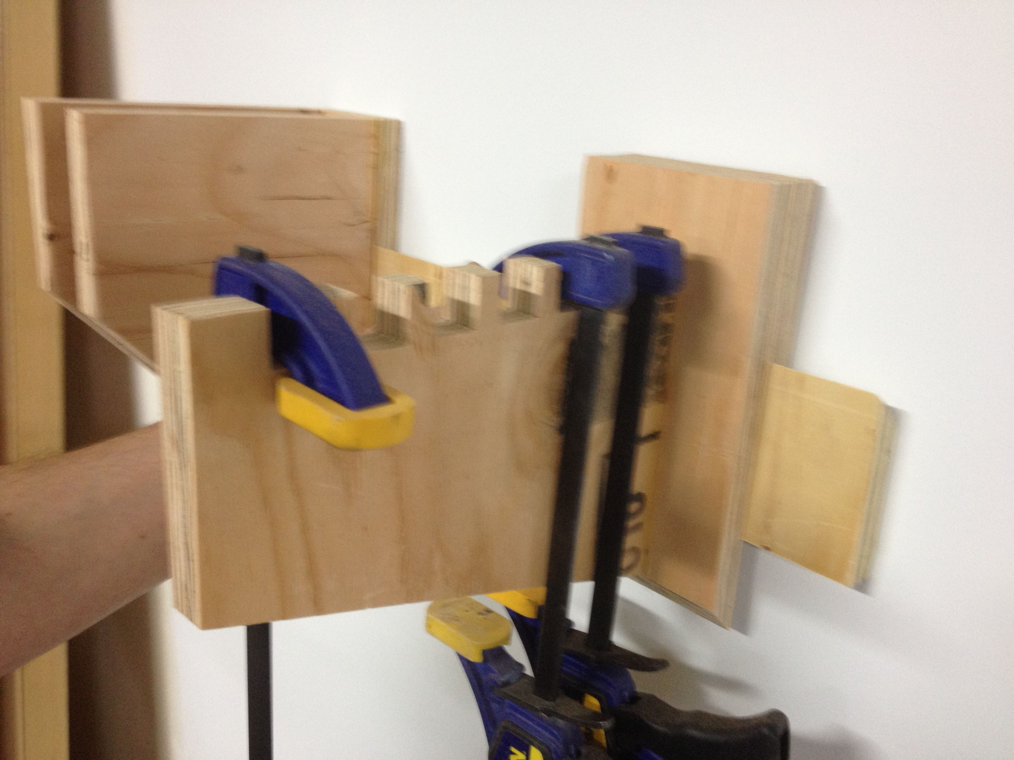 Picture of 2 Styles of French Cleat Clamp Hanger Brackets