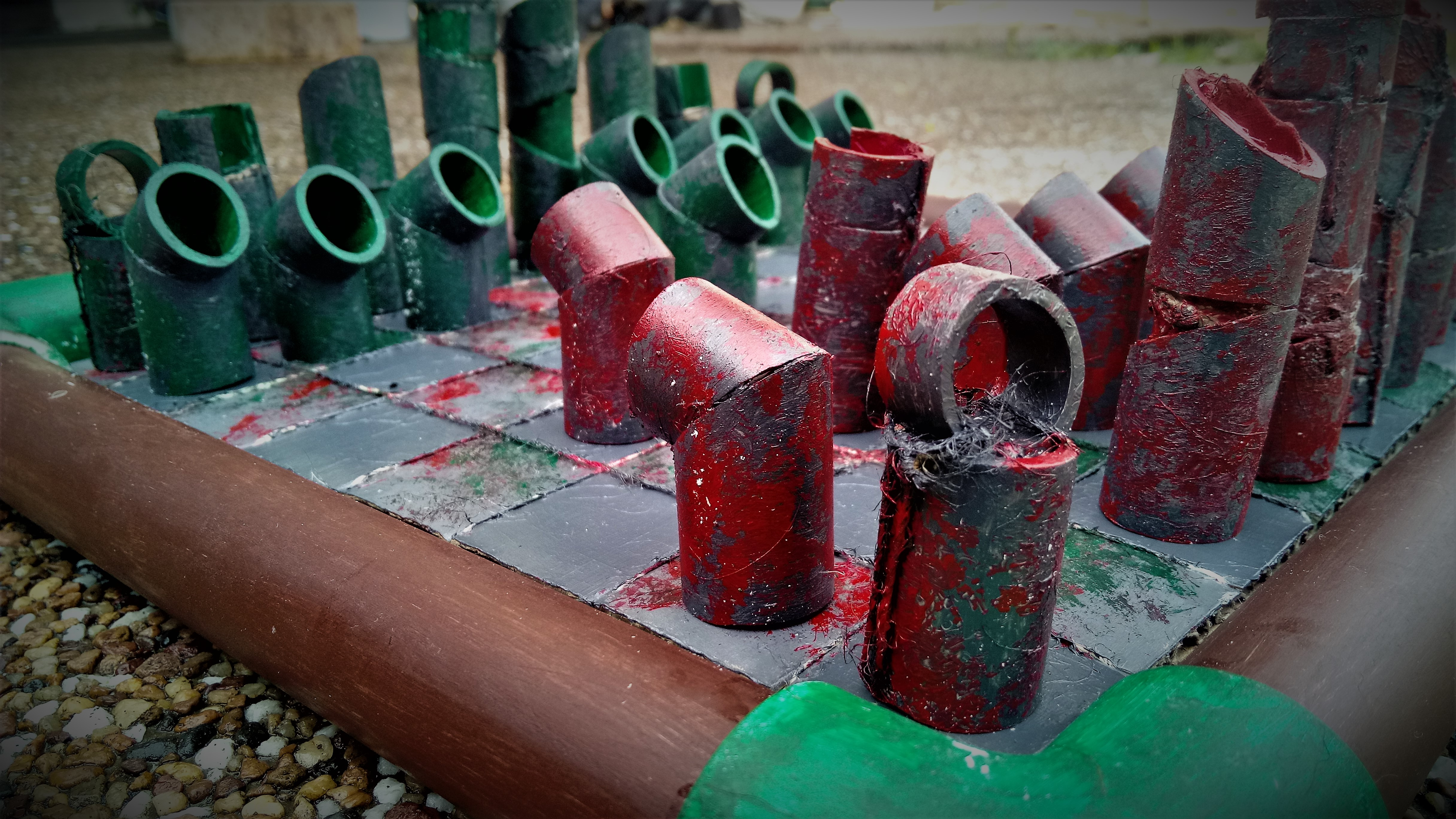 Picture of PVC Pipe Chess Set