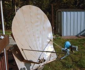 Scratchbuilt Wooden Offset Satellite Dish
