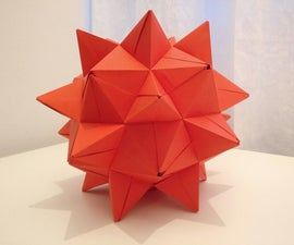 """Paper heart"": a paper-only stellated icosidodecahedron"
