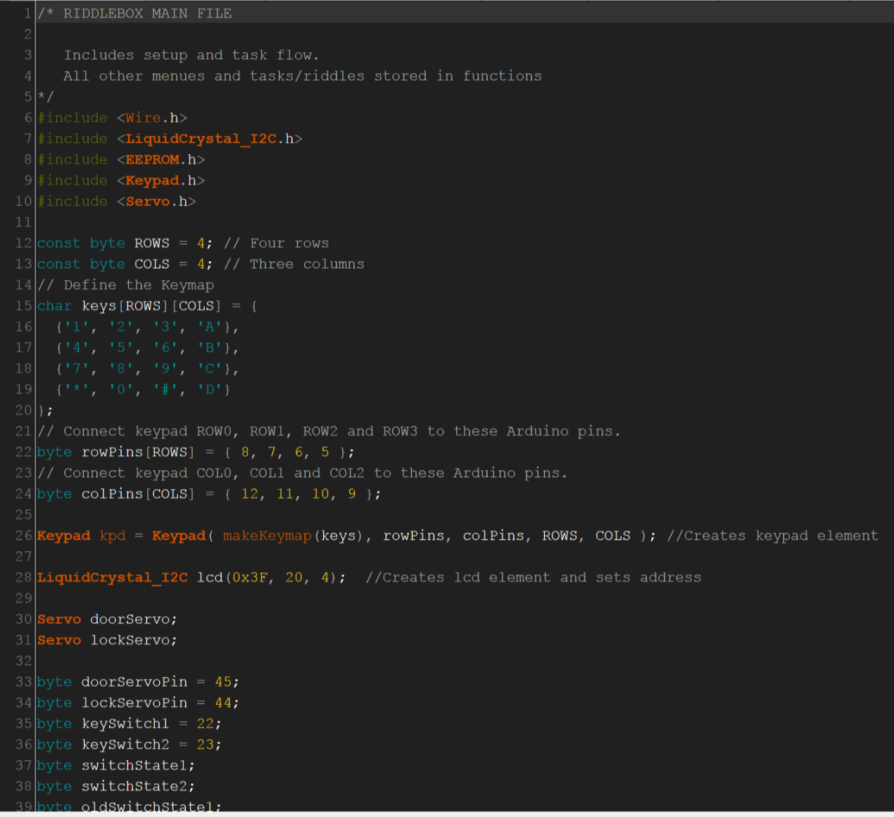 Picture of Arduino Code and Riddles